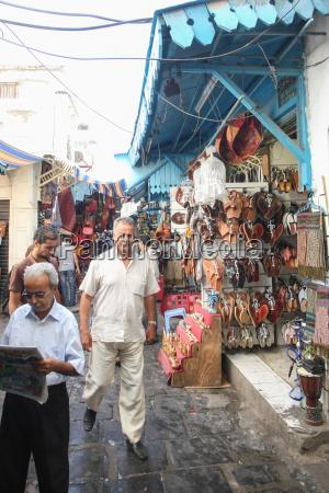einkaufszone in medina