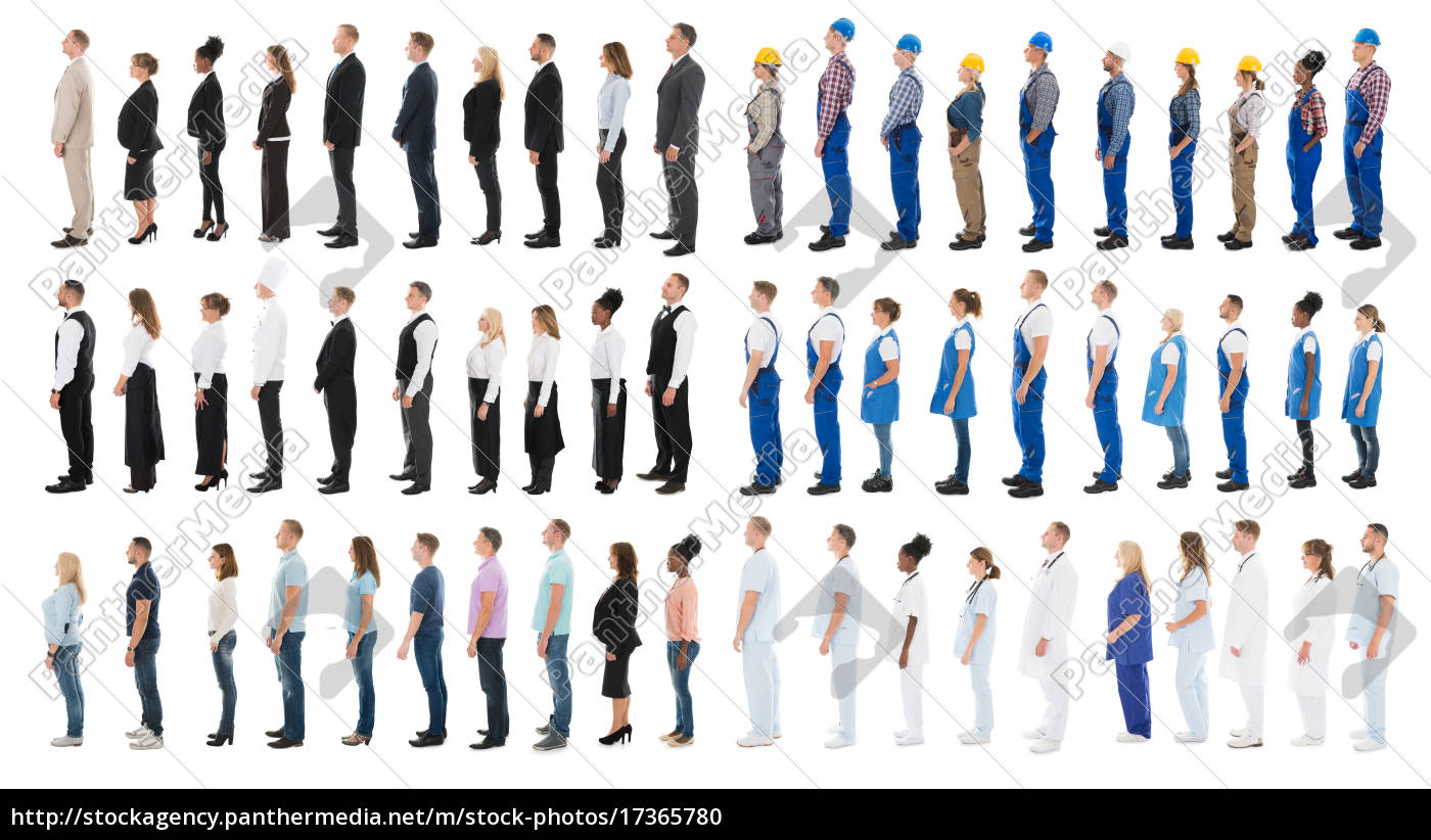 collage, of, people, standing, in, line - 17365780