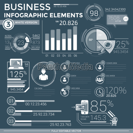business infographic elemente