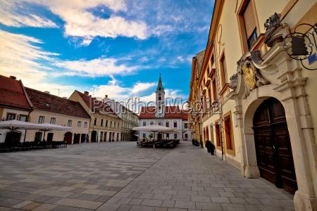 varazdin baroque architecture in town center