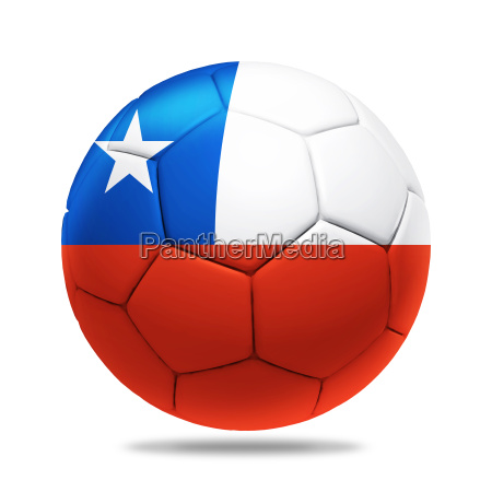 3d soccer ball with chile