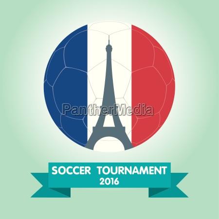 france euro 2016 logos flat design