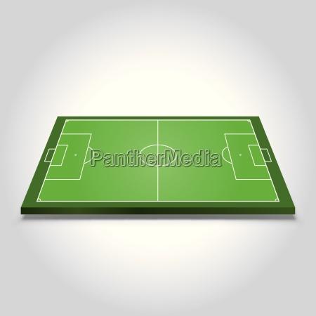 soccer field on grey background