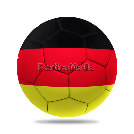 3d soccer ball with germany team