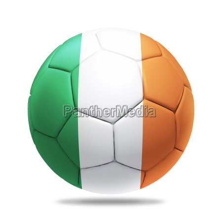 3d soccer ball with ireland team