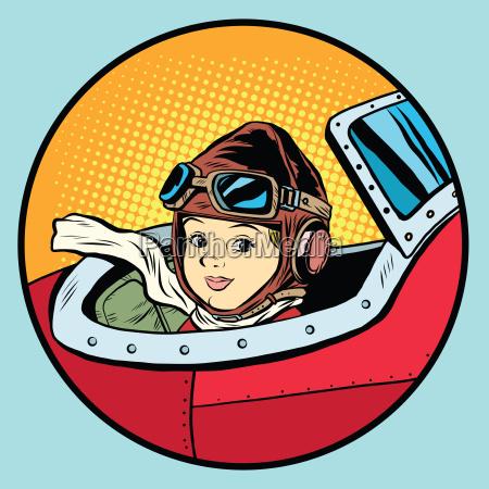 child pilot plane game dream aviation