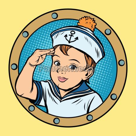 child sailor ship kids game retro