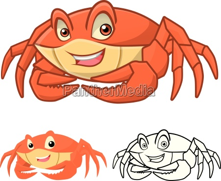 high quality crab cartoon character include