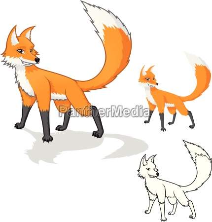 high quality fox cartoon character include