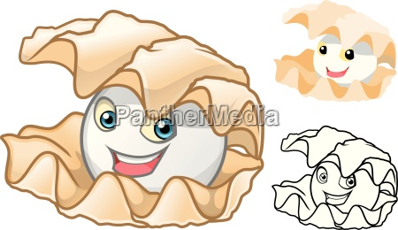high quality pearl shell cartoon character