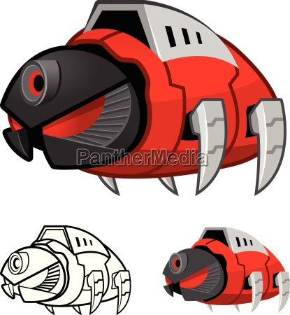 robot cockroach cartoon character include flat