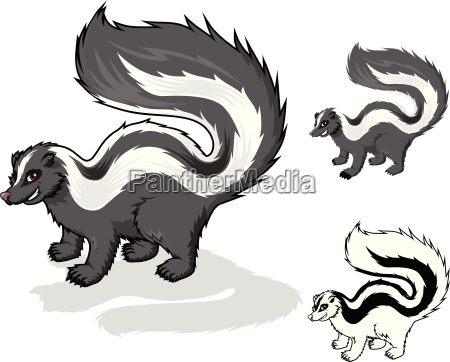 high quality skunk cartoon character include