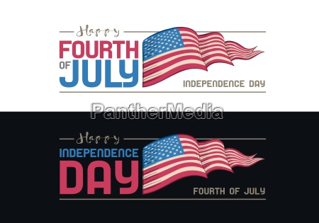 vector fourth of july design independence