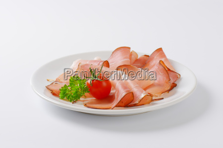 thin slices of black forest ham