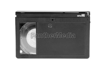 vhs c video cassette on white