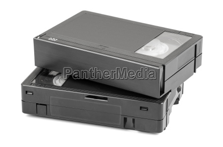 vhs c video cassettes on white