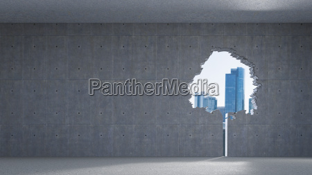 3d rendering window in tree shape