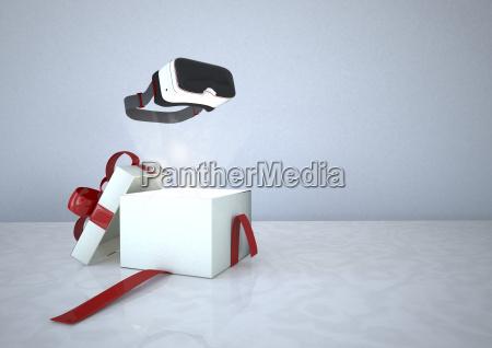 virtual reality brille und geoeffnet geschenk