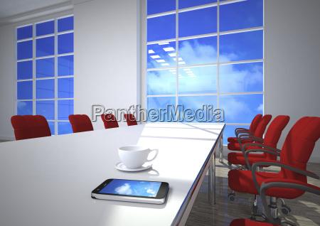 3d illustration cloud computing smartphone