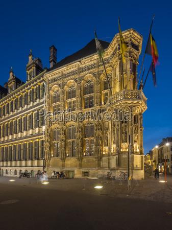 belgium ghent botermarkt with city hall