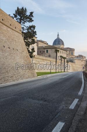 italy loreto city wall and basilica