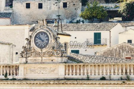 italy sicily modica theatre historical clock