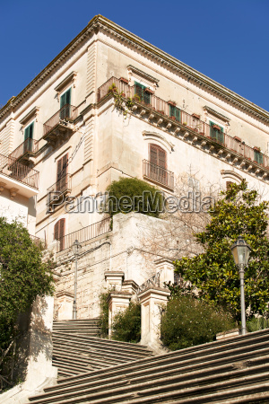 italy sicily modica house and stairway