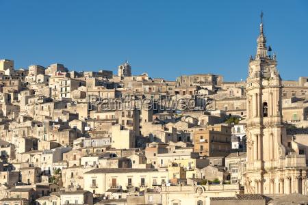 italy sicily modica cityscape with church