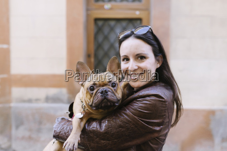 portrait of french bulldog on the