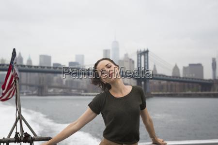 usa new york city young woman