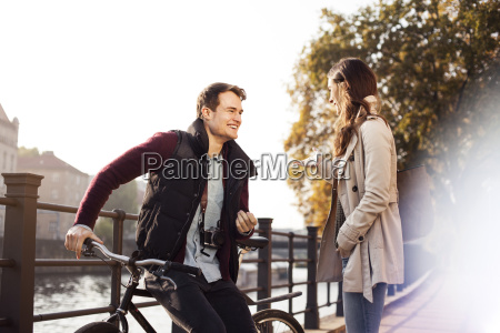germany berlin happy young couple at