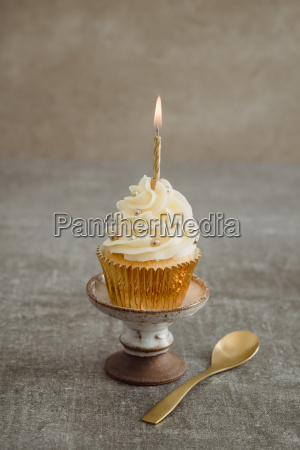 festive decorated cup cake with lighted
