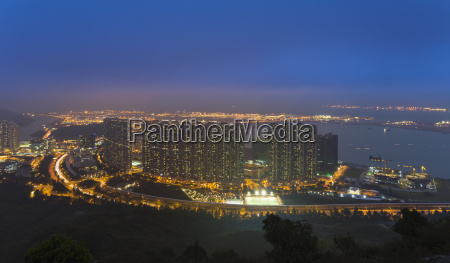 china hong kong apartemnet buildings at