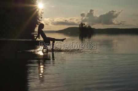 finnland karelien uukuniemi pyhaejaervisee maedchen auf