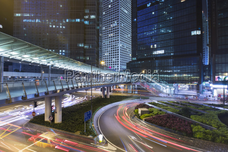 china, hongkong, verkehr, nachts, in, zentralregland - 17385166