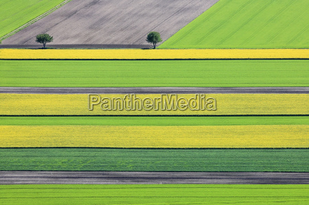 germany bavaria aerial view of fields