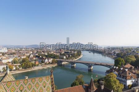 switzerland basel city and rhine river