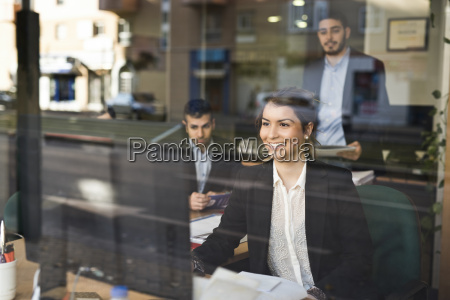 group of people working at office