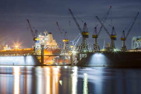 germany hamburg ship in a dock