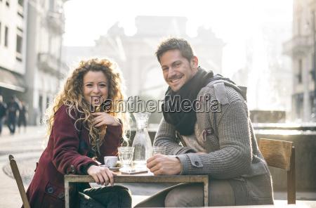 italy milan portrait of happy couple