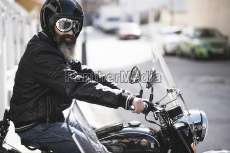 spain jaen portrait of bearded biker