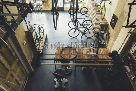 assortment of bicycles in a custom