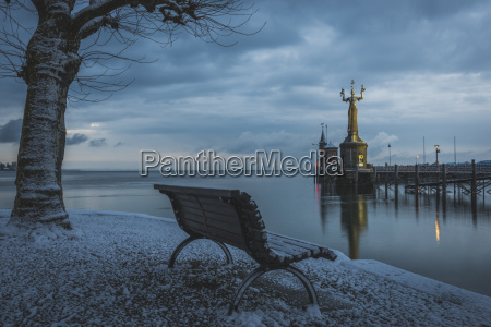 germany constance lake constance bench facing