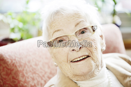 portrait of senior woman with alzheimers