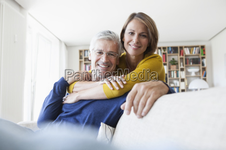 portrait of smiling couple in the