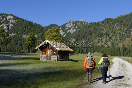austria tyrol karwendel hikers in the