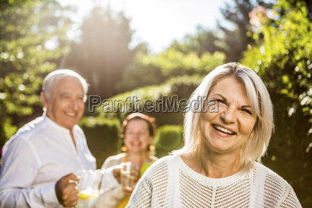 portrait of smiling mature woman in