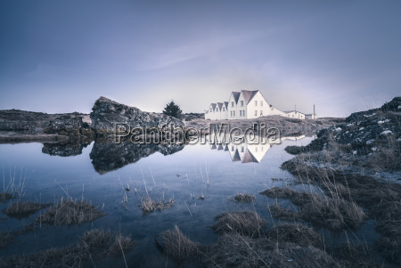 iceland sudurland straumur residential houses