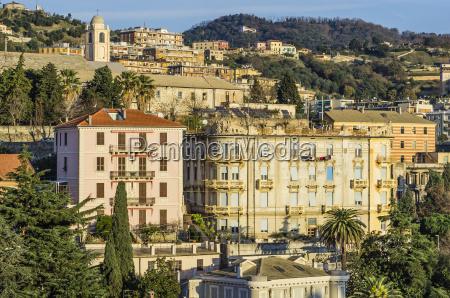 italy liguria savona city view