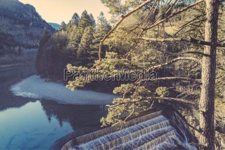 germany bavaria lech dam near fussen
